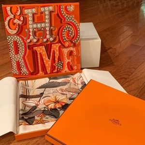 Authentic NWT Hermes Silk Scarf